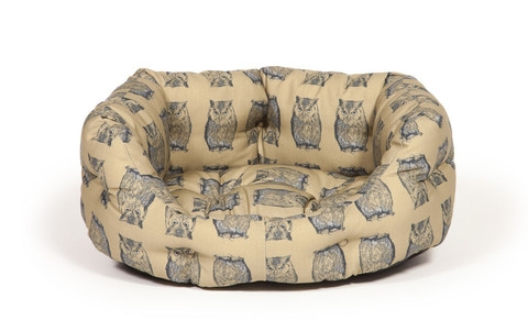 Woodland Owl Deluxe Slumber Dog Bed