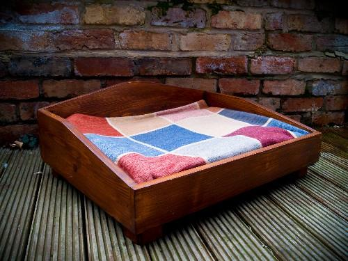 Deluxe Wooden Dog Bed The Edward