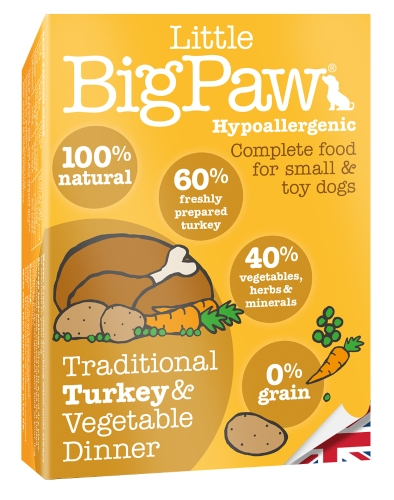 Little BigPaw Small & Toy Breed Food - Turkey 150g