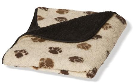 Dog Blanket Fleece - Danish Design - Beige & Brown