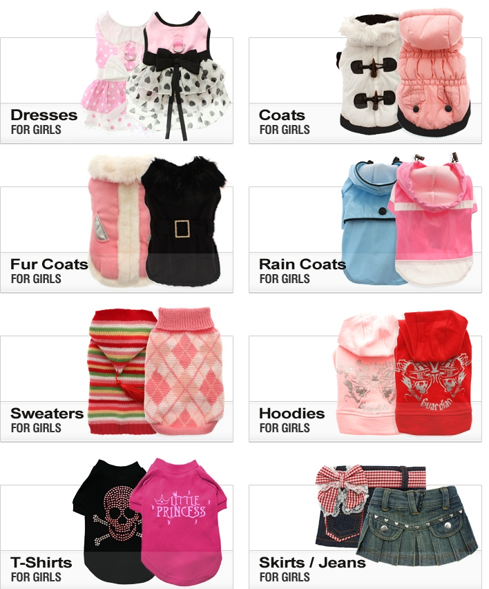 Dog Boutique - Coats & Clothes - Fashion for girls