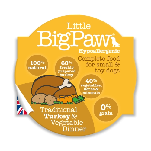 Little BigPaw Small & Toy Breed Food - Turkey 85g