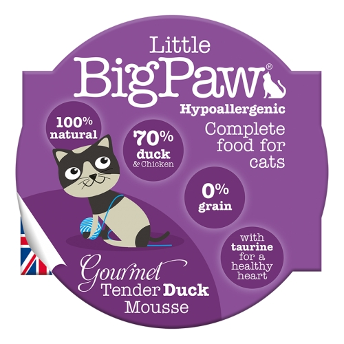 Little BigPaw Gourmet Duck Mousse for Cats - 85g