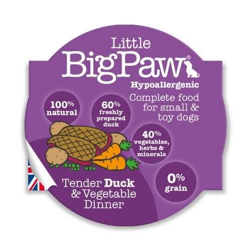 Little BigPaw Small & Toy Breed Food - Duck 85g