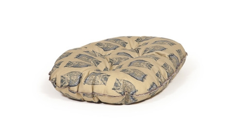 Woodland Owl Quilted Mattress Dog Bed