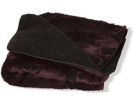 Plum Cream Throw - Dog Blanket Fleece