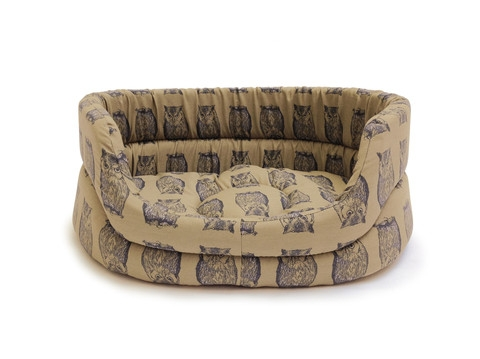 Woodland Owl Slumber Dog Bed