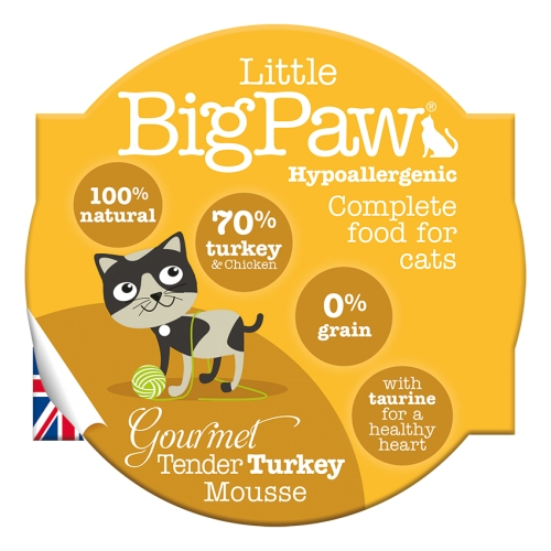 Little BigPaw Gourmet Tender Turkey Mousse for Cat
