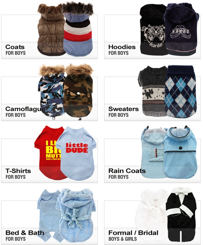 Dog Boutique - Coats & Clothes - Fashion for boys