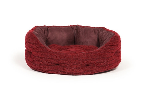 Bobble snuggle dog beds - Damson - Deluxe Bed